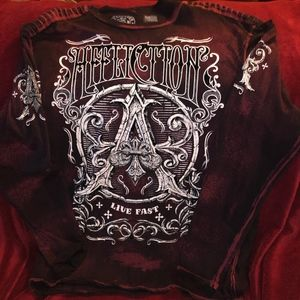 AFFLICTION Shirts - AFFLICTION 'LIVE FAST' SHIRT